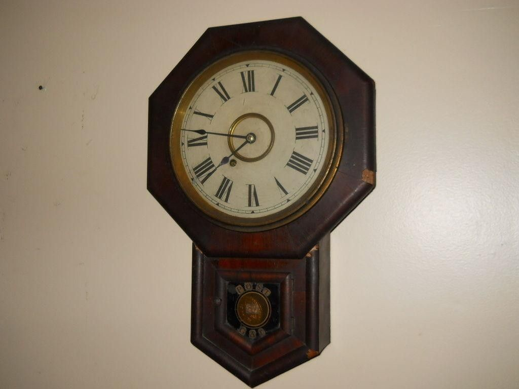 1860s new haven 8 day octagonal regulator wall clock from gar 1860s new haven 8 day octagonal regulator wall clock from gar post 45 penna nice original clock runs great 8 day time only this was the post clock amipublicfo Gallery