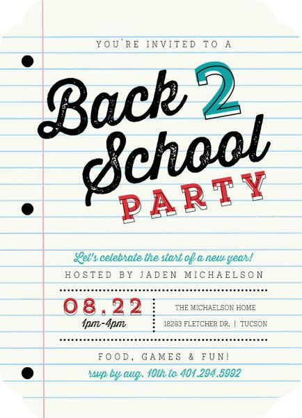 school paper party back to school invitation party ideas