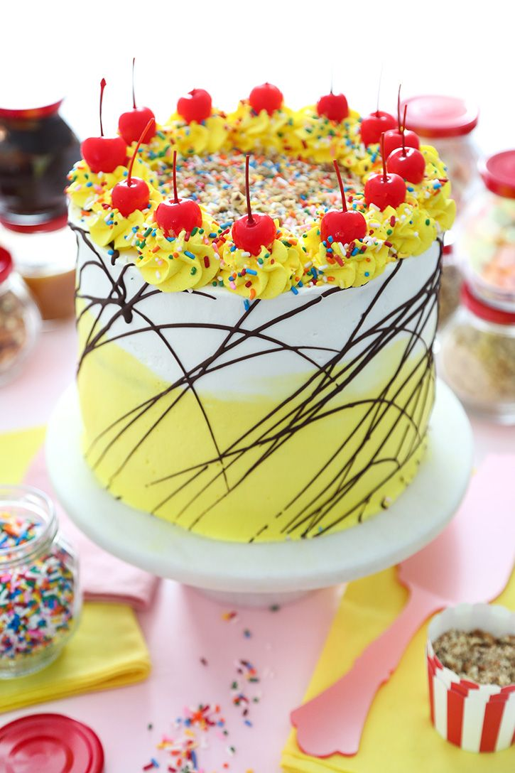 Banana Split Ice Cream Cake -   13 cream cake design ideas