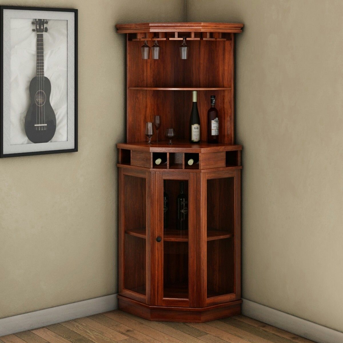 Pin by Roberta Amador on BAR  Wine bar cabinet Corner
