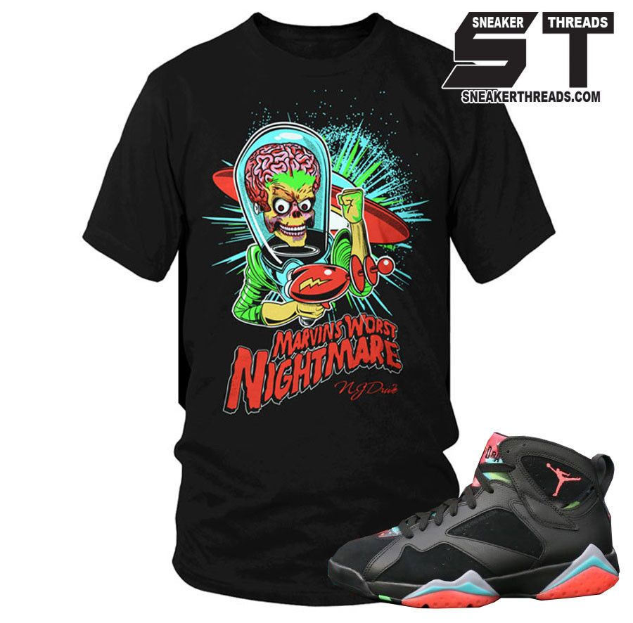 da15ee8b3931 Jordan 7 marvin the martian tees shirt to match retro 7 s marvin the martian  shirts.