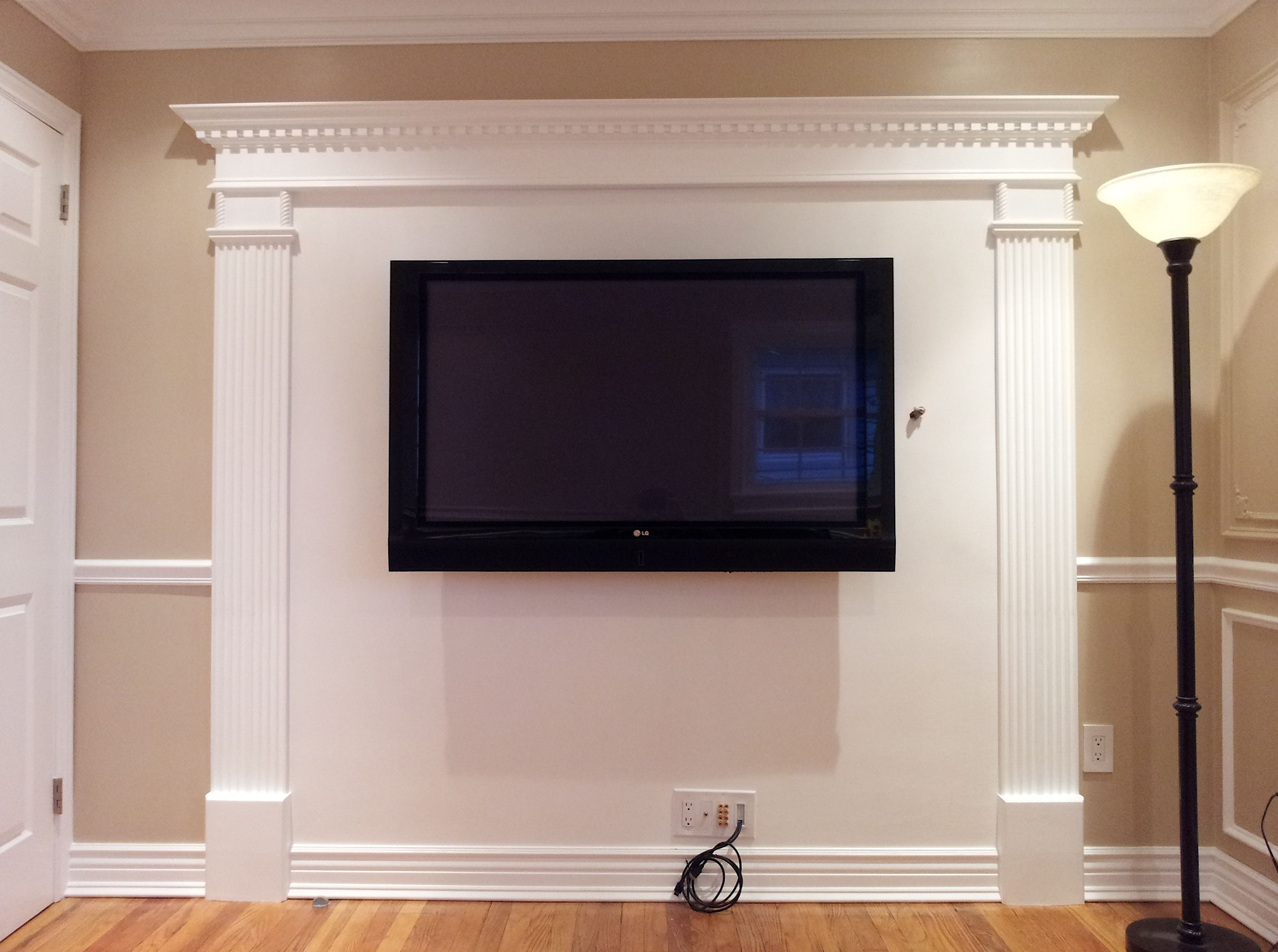 AppleMark | Basement | Pinterest | Flat screen, Moldings and Main door for Flat Screen Tv On Wall Bedroom  45hul