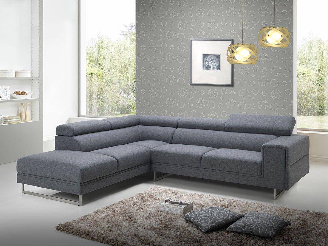 Ce canapé d angle Street avec appuis tªte en tissu s accorde