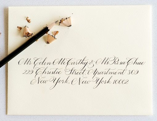 Los Angeles Wedding Invitations: Calligraphy And Hand Lettering