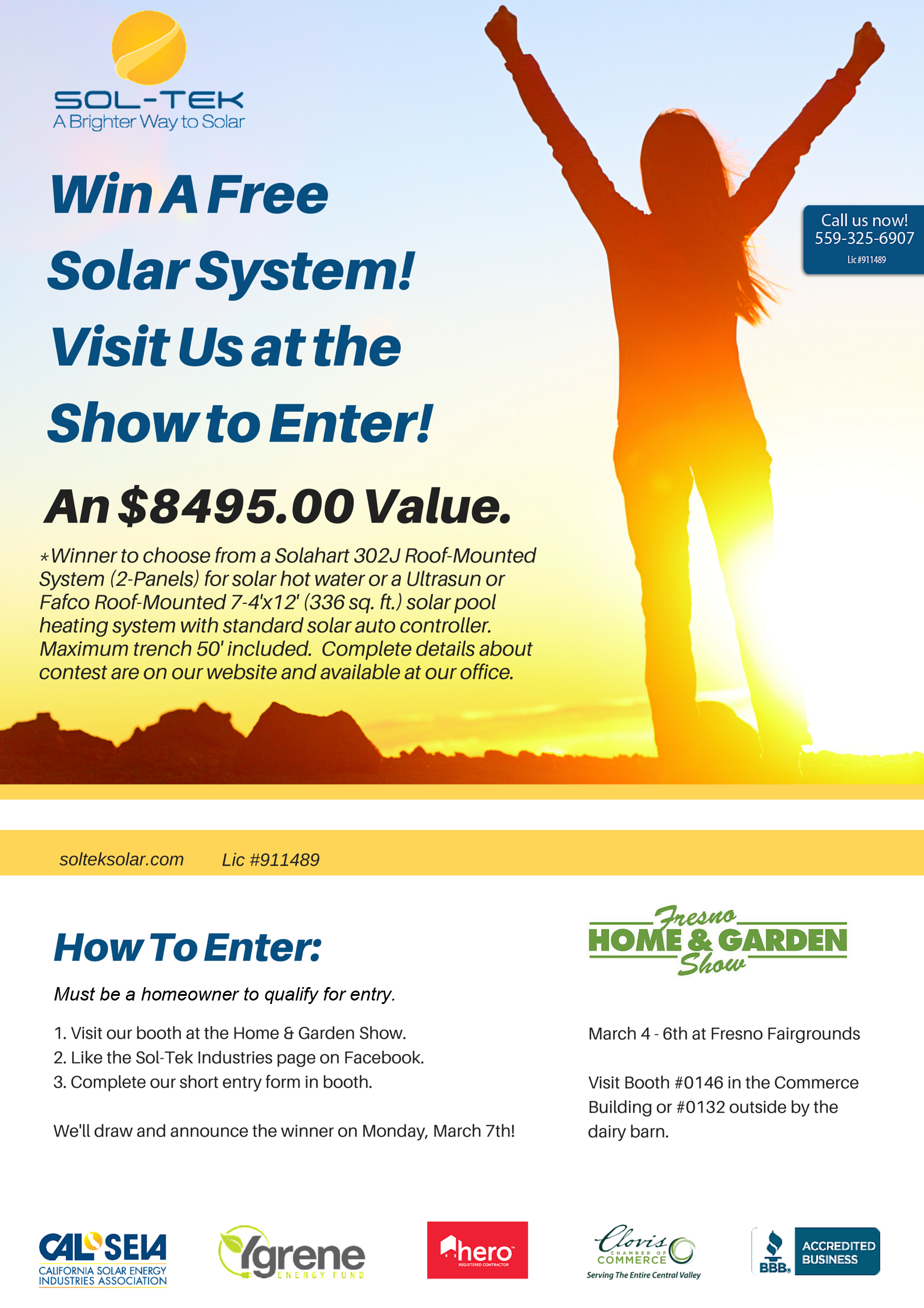 Make Sure You Visit Us At The Upcoming Fresno Home Garden Show For A Chance To Win A F Solar Energy System Solar Panels For Home Solar Power System