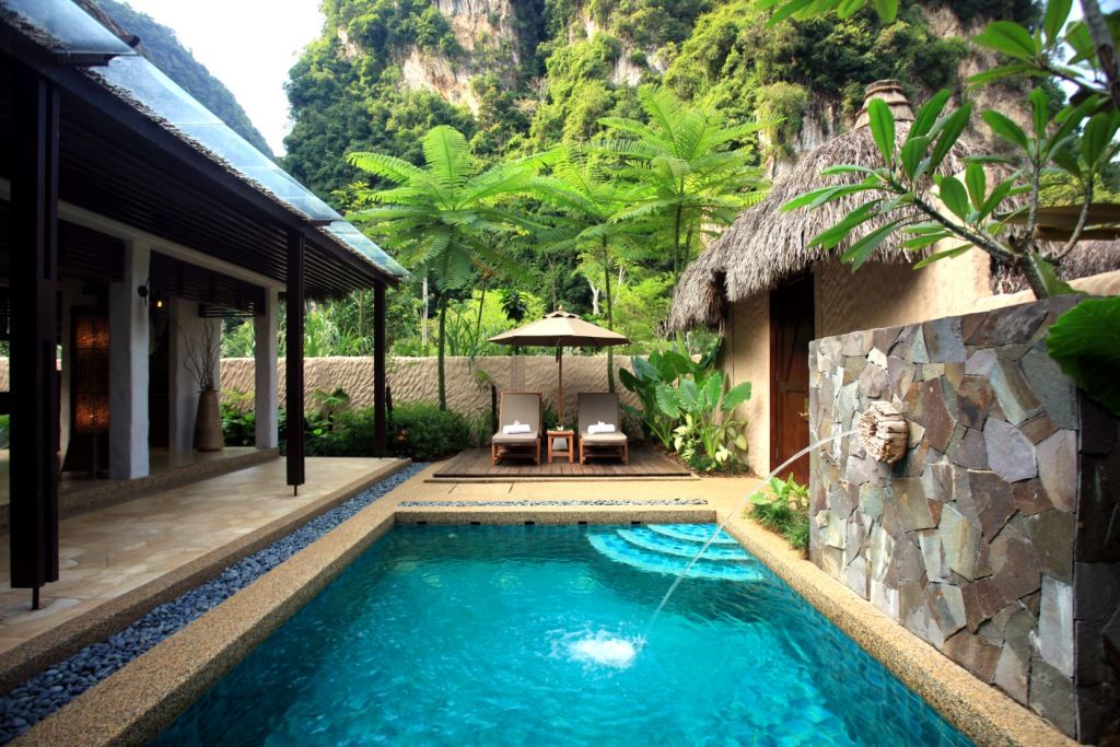 Private pool villa at Banjaran Hot Springs Resort, Ipoh.