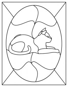 Stained Glass Patterns For Free Stained Glass Cat Patterns