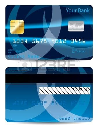 Abstract Blue Credit Card Design Credit Card Design Card Design Vip Card Design