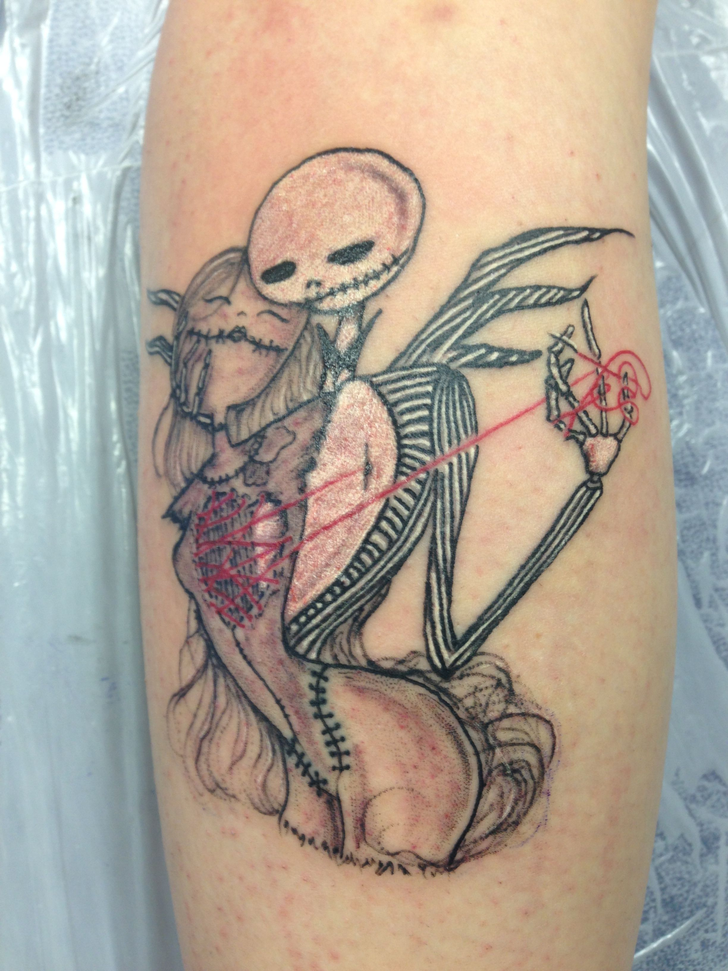Tatuaggio Specchio Jack And Sally Tattoo Tattoos Pinterest