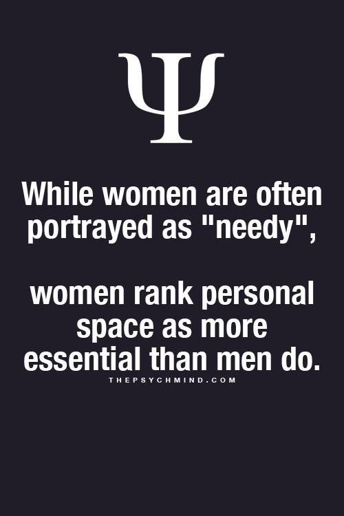 Psychology of needy women