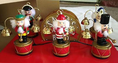 vtg mr christmas animated santas marching band nutcracker brass bells 35 carols ebay