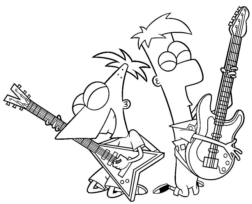 Phineas And Ferb Coloring Pages 1884 Phineas And Ferb Cloring Pages ...
