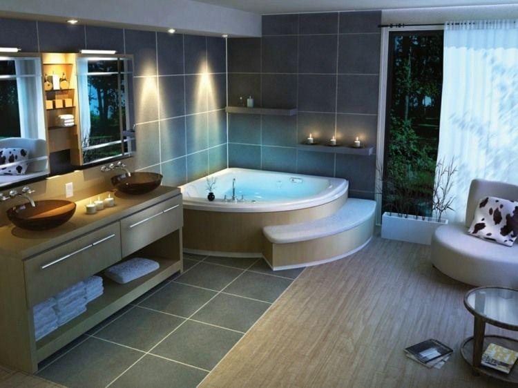 salle de bain de luxe en styles varies