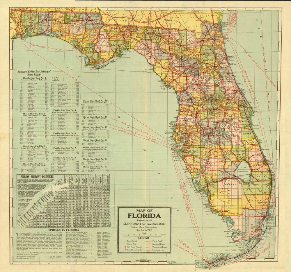 Plant City Florida Map.Florida Memory Florida Department Of Agriculture Map C 1926