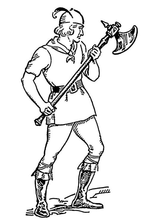 Coloring Page Battle Axe Coloring Picture Battle Axe Free
