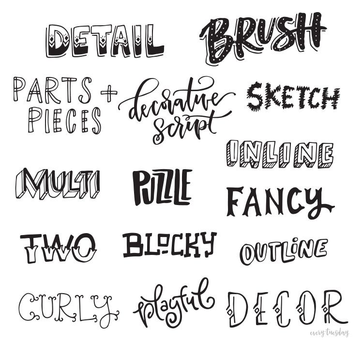 Different Letter Fonts Freebie Hand Lettering Style Inspiration Guide