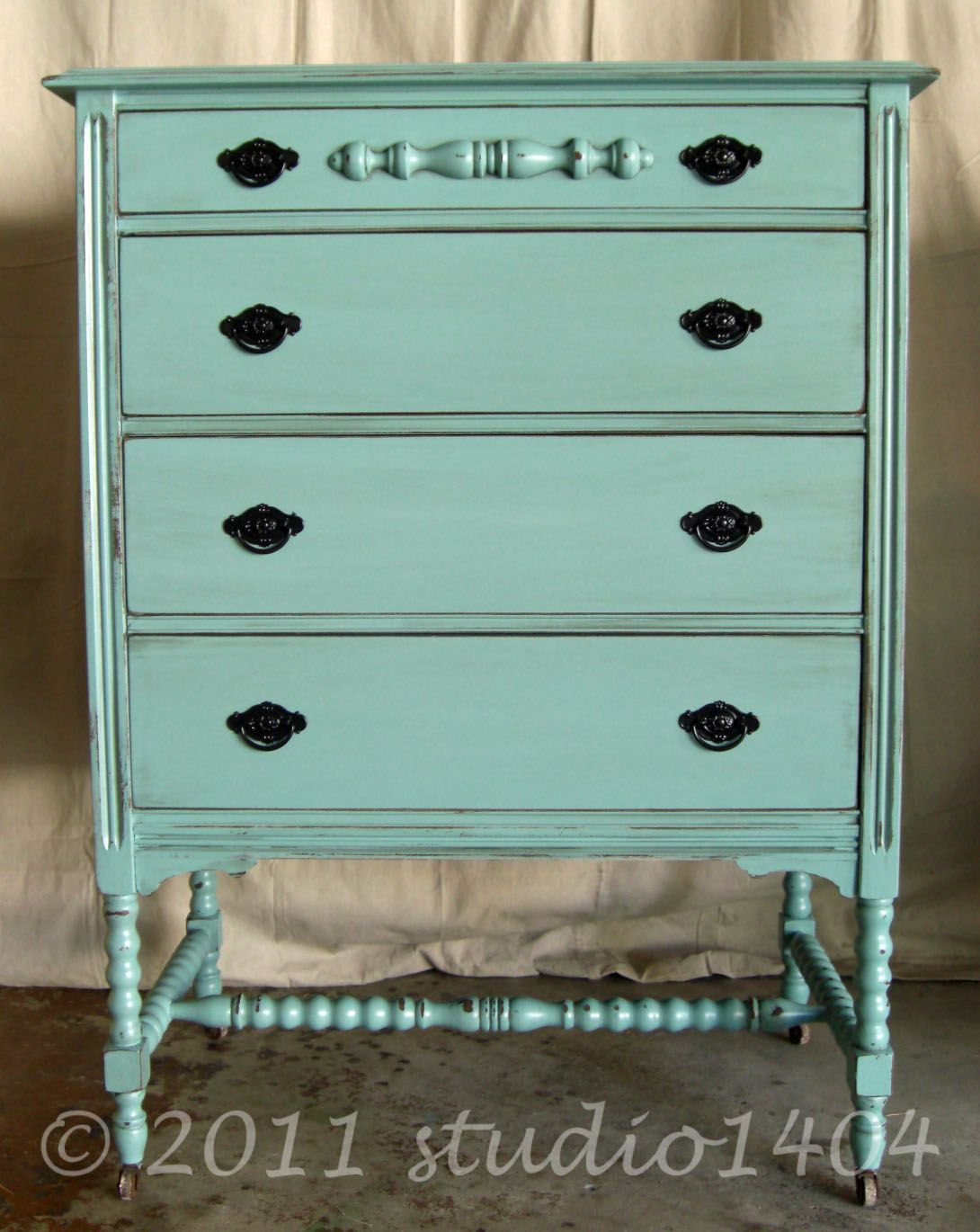Painting furniture shabby chic - This Was The Color That My Entertainment Center Was Meant To Be Aqua Paintpaint Colorsdresser