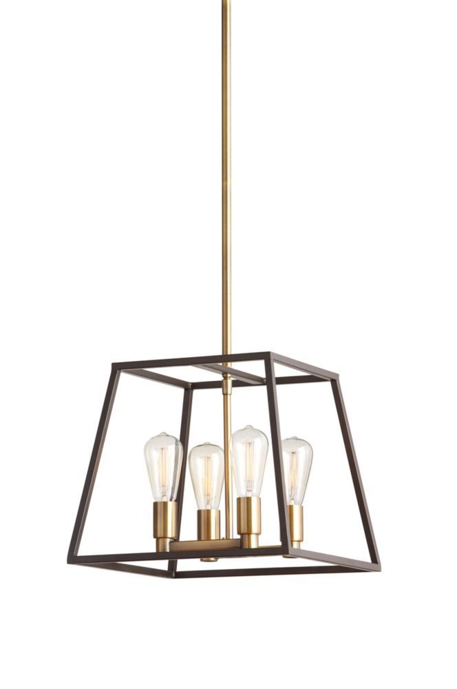 Home Decorators Collection HDC 4Light Two Tone Retro Pendant | The Home  Depot Canada