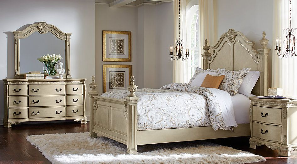 Cortinella White 5 Pc Queen Poster Bedroom .1299.99. Find Affordable Queen  Bedroom Sets For