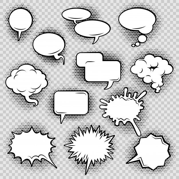 Download Comic Speech Bubbles Icons Collection Of Cloud