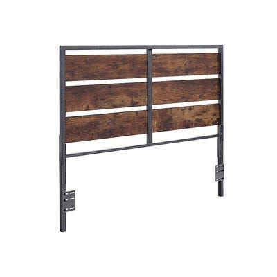 Rustic Metal & Wood Plank Panel Queen Headboard in 2020 ...