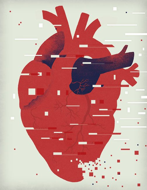 Cool illustration on DNA testing for heart conditions by C.S. Neal for Stanford med.