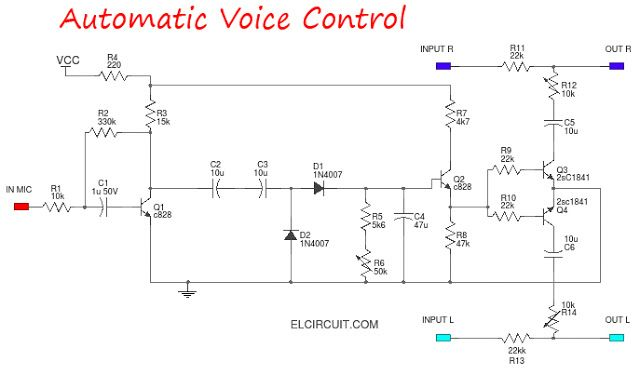 Audio Voice Control Circuit How To Make AVC Audio Voice Control - ics organizational chart