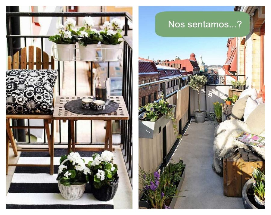Grandes ideas para peque os balcones balcones v as y - Balcones pequenos con encanto ...