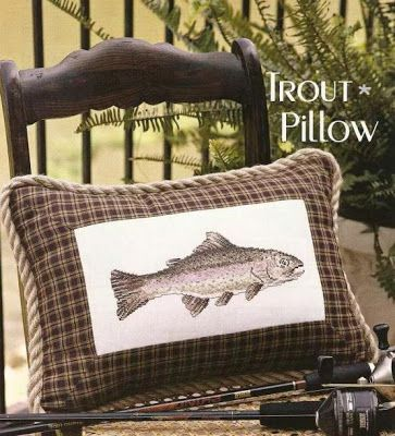 brown gaby trout pillows angling chapmans fish pillow