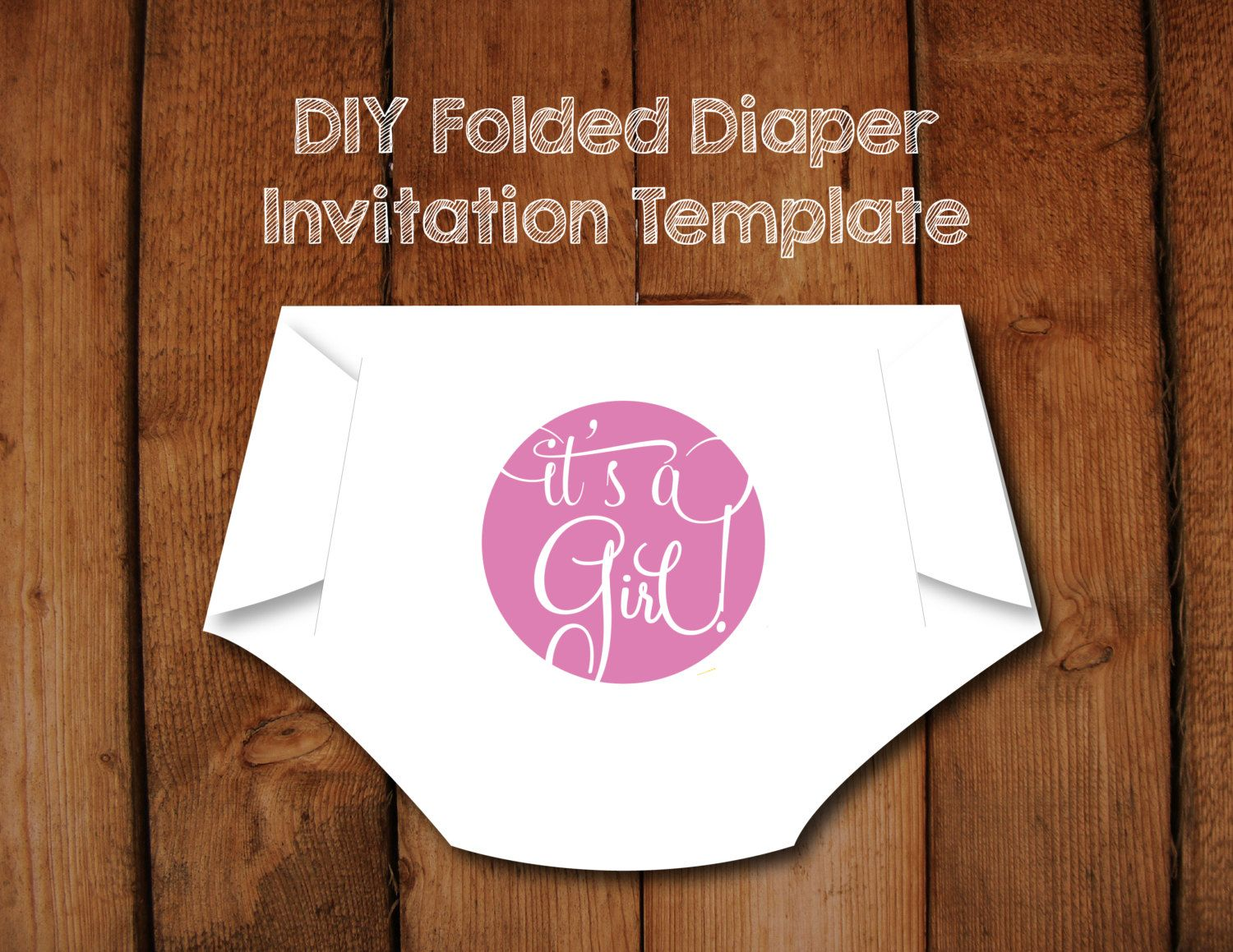 Its a girl diaper invitation diy template with instructions how to its a girl diaper invitation diy template with instructions how to make your own diaper shaped baby shower invitation filmwisefo