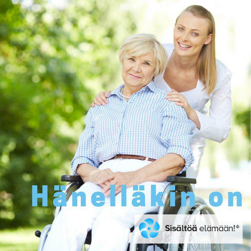 """Sisältöä elämään!® on Twitter: """"#HänelläkinOn #SisältöäElämään #Hyvinvointi #Ikäihmiset #Seniorit #Senioriassistentit #HyväElämäOmassaKodissa https://t.co/r5blkNO1d2"""""""