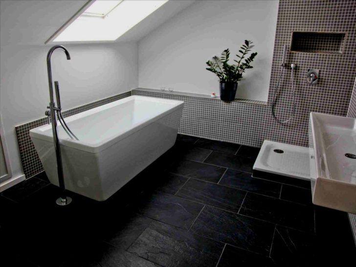 Schiefer Schwarze Fliesen Badezimmer