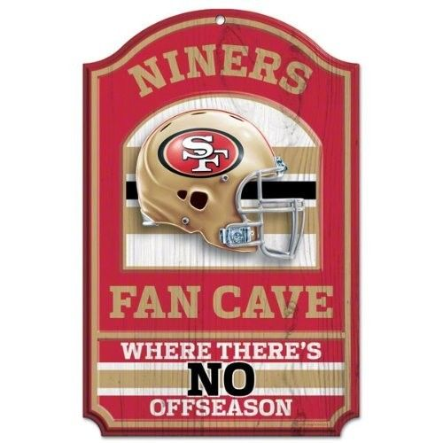 NFL San Francisco 49ERs 11 x 17 inch Fan Cave No Offseason Wood Sign - Game NEW #49ers #niners_wood_sign #49ersfansign #homedecor #NFL #football #gamesign #depotdeals #ebay
