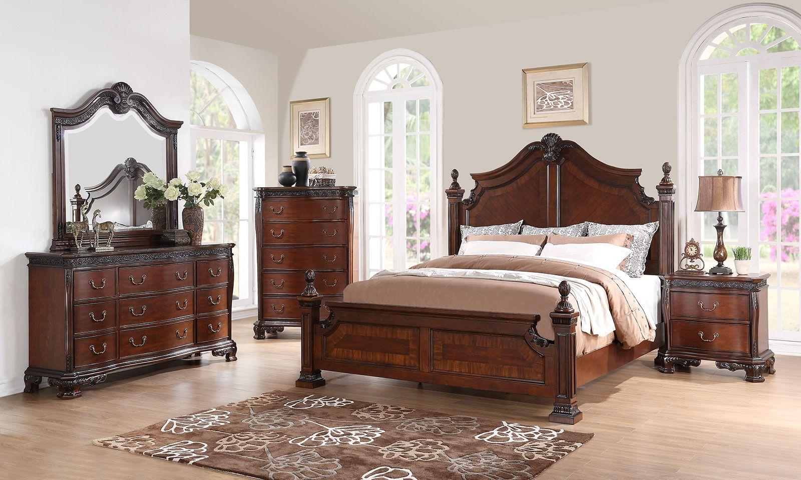 Exceptional New Classic Furniture Elsa Bedroom Set In Mahogany B1404 SET