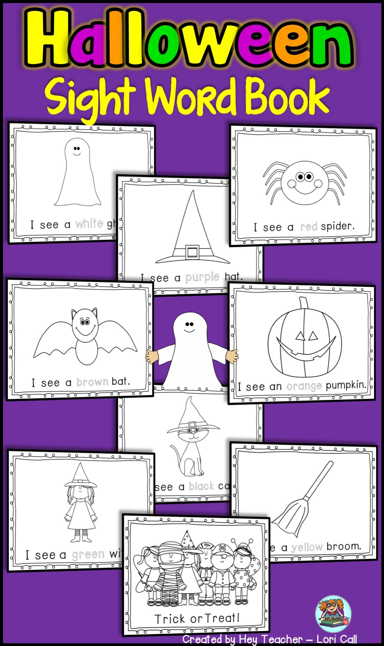 Halloween Printable Sight Word Book For Kids Help Young
