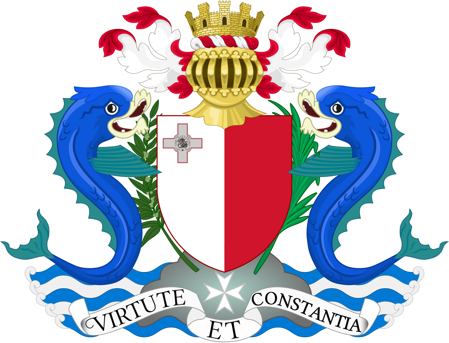FileCoat of arms of Malta 19641975.svg Coat of arms