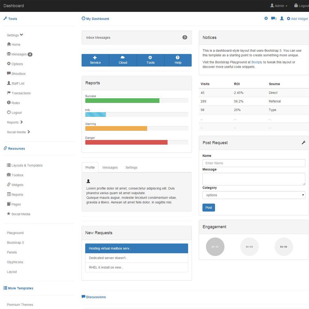 15 Bootstrap Dashboard Admin Templates | Bootstrap Dashboard Admin ...