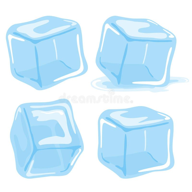 Ice Cubes And Melted Ice Cube Vector Set On White Background Ad Ice Cube Melted Ice Cubes Ad Cube Illustration Ice Cube