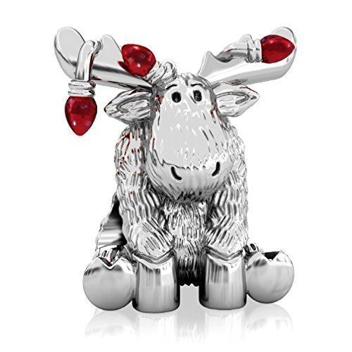 b539bf67d ... Luxe Color™ Enamel Bead Charm - Candy Apple Red. BELLA FASCINI Red  Christmas Lights Moose European Bead Ch... https://