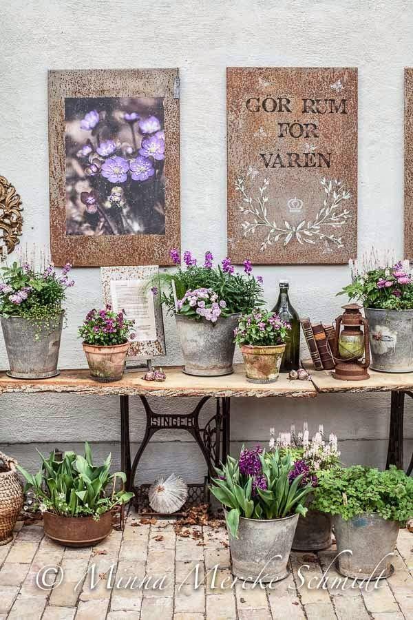Ideen Für Den Garten · Hauseingang · Dekorieren · Deko Mit Nähmaschine
