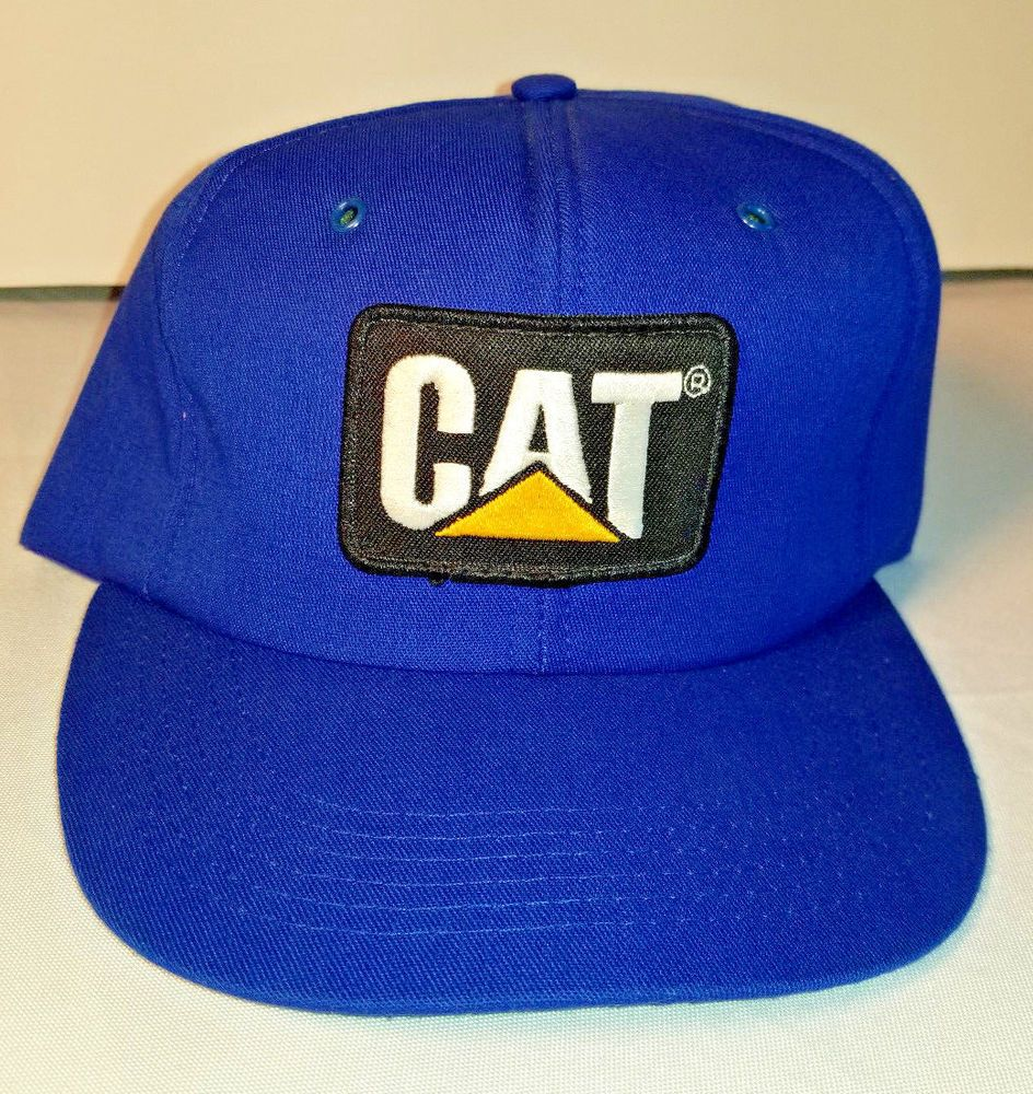bac80627ae6dc Vintage Caterpillar CAT Diesel Power Patch foam Trucker Hat Snapback EUC NOS