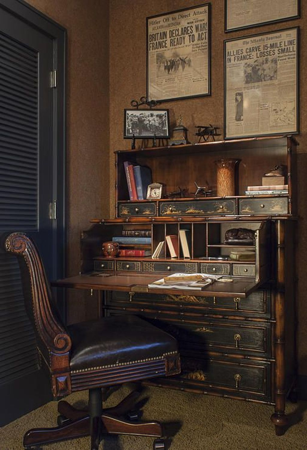 23 Elegant Masculine Home Office Design Ideas: Vintage Home Offices, Masculine Home Offices