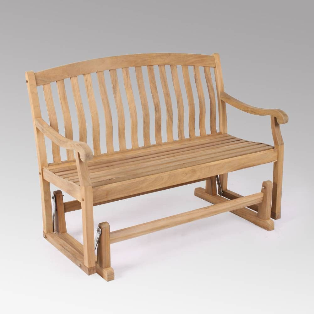 Sherwood Glider Bench Teak Cambridge Casual In 2020 Teak Patio Furniture Outdoor Glider Porch Rocker