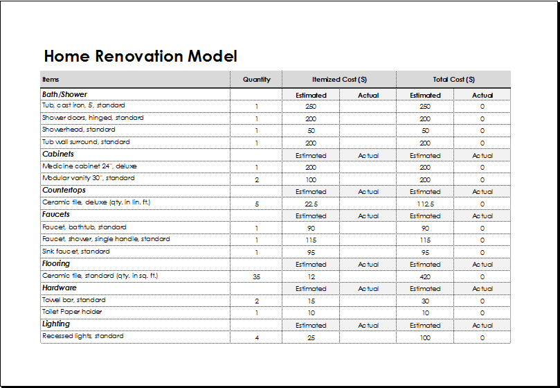 Home Renovation Model Template Download At HttpWwwXltemplates