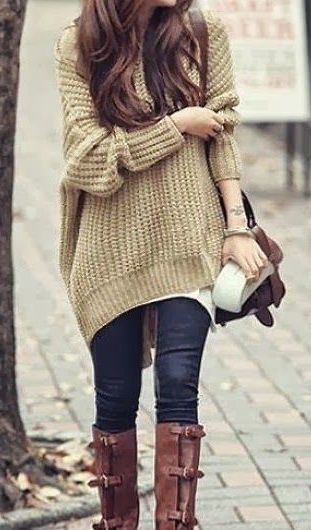 #street #style fall / oversized knit