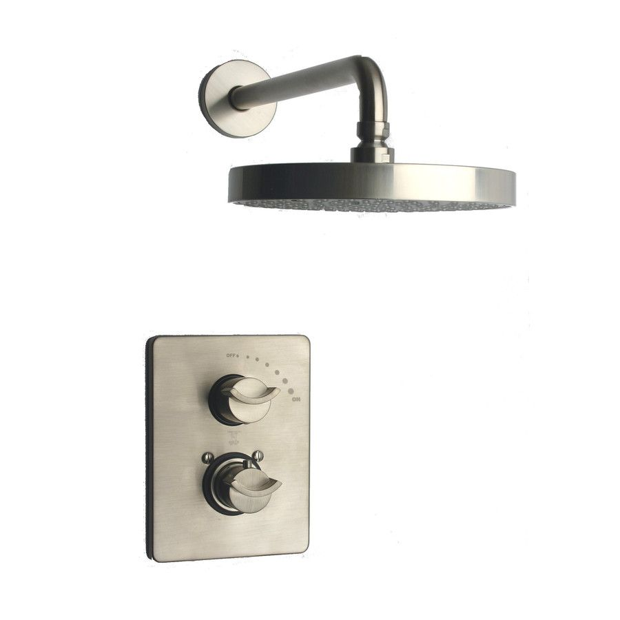 Latoscana Morgana Brushed Nickel 2 Handle Commercial Shower Faucet
