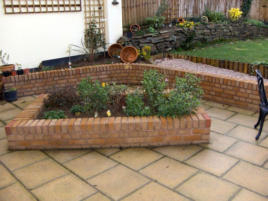 My backyard design options for raised flower beds for Flower bed wall designs