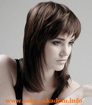 Стрижки каскад на средние волосы фото с челкой темные волосы