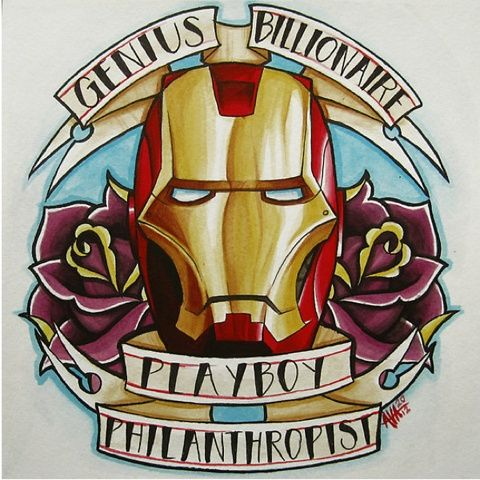 Some cool tattoo designs of the Avengers by illustrator/artist Alivia Marie. Tattoos | tattoos picture cool tattoo designs