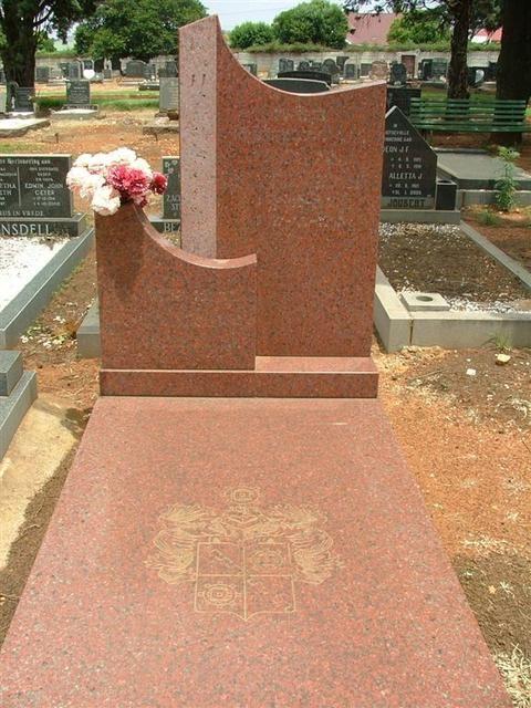 JACOBUS JOHANNES MuLDER (Kolie) 11 Desember 1930 - 1987  Gauteng, Alberton, Florentia, Main Cemetery.